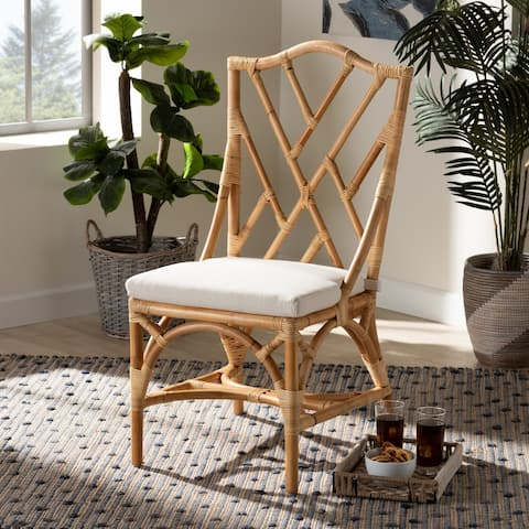 Sonia Modern Natural Finished Rattan Dining Chair