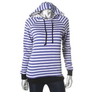 Rebellious One Womens Juniors Sweatshirt Striped Hooded - S