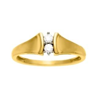 1/10 ct Diamond Duo Ring in 14K Gold