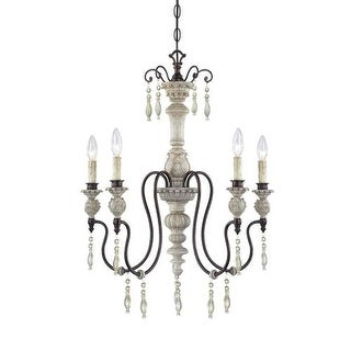 Millennium Lighting 7305 Denise 5 Light Single Tier Chandelier