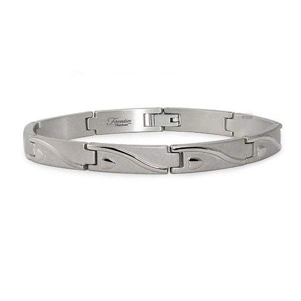 Titanium Men's Link Bracelet (7.5mm Wide) 8.5 Inches