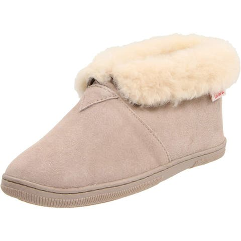 Tamarac Womens lacy Leather Closed Toe Pull On Slippers