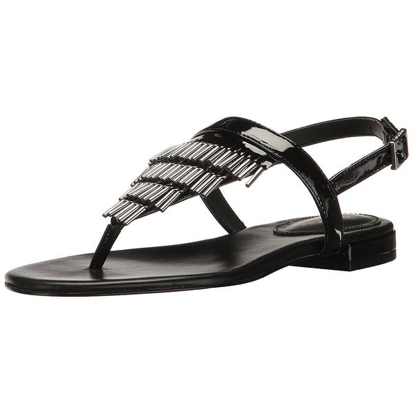 Calvin Klein Womens Evonie Open Toe Casual Gladiator Sandals