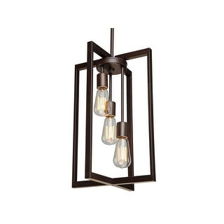 "Artcraft Lighting AC10413 Gastown 3-Light Mini Chandelier - 12"" Wide - Oil Rubbed Bronze - N/A"