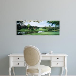 Easy Art Prints Panoramic Images's 'Lake on a golf course, Congressional Country Club, Bethesda, Maryland' Canvas Art