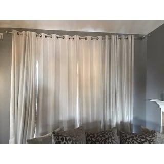 shop exclusive fabrics textured dupioni faux silk 108 inch blackout grommet curtain panel 50 x. Black Bedroom Furniture Sets. Home Design Ideas