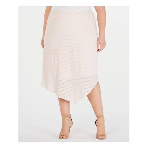 ALFANI Womens Pink Midi Skirt Size 20W
