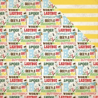 "Bug Collection Double-Sided Cardstock 12""X12""-Bug Words"
