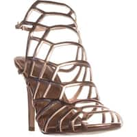 madden girl Directt Caged Ankle Strap Sandals, Rose Gold