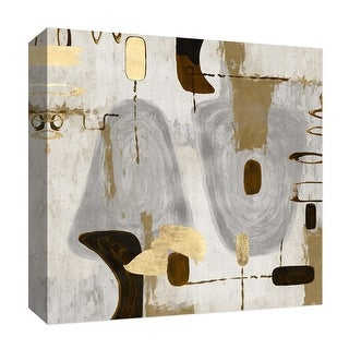 """PTM Images 9-126816  PTM Canvas Collection 12"""" x 12"""" - """"Golden Touches IV"""" Giclee Abstract Art Print on Canvas"""