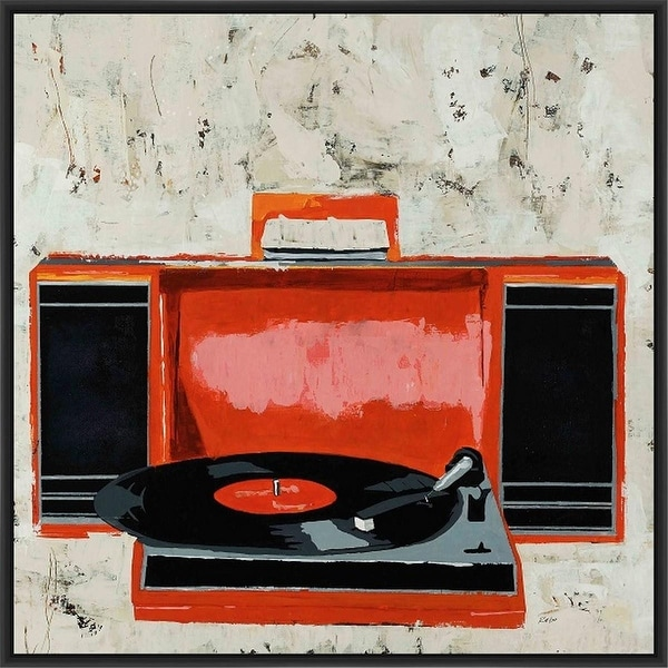 HI-FI 28L X 28H Floater Framed Art Giclee Wrapped Canvas