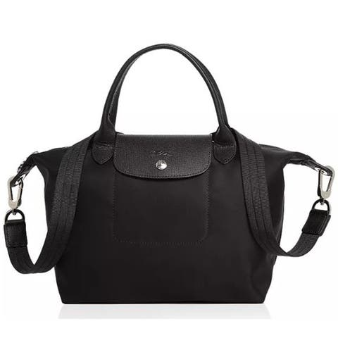 Longchamp Womens Le Pliage Main Top Handle, Black