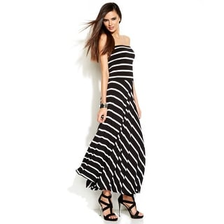 Inc International Concepts Striped Convertible Maxi Skirt - M