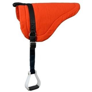 Tough-1 Saddle Pad Heavy Bareback Nylon Stirrup Leathers