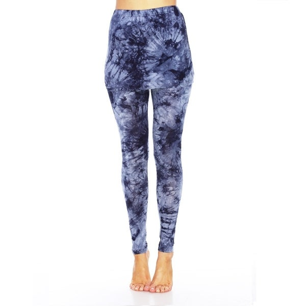 Tie Dye Skirted Leggings - Navy