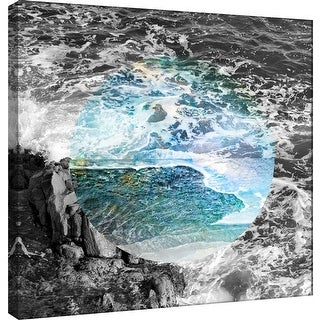 "PTM Images 9-100535  PTM Canvas Collection 12"" x 12"" - ""Celestial Landscape 5"" Giclee Nautical and Ocean Art Print on Canvas"