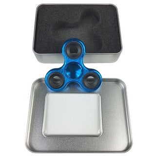 Fidget Spinner Metal Hand Spinner Stress Relief Toy With Gift Box - Blue