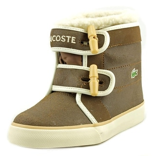 Lacoste Koso Snow WF SPC Youth Round Toe Suede Brown Winter Boot
