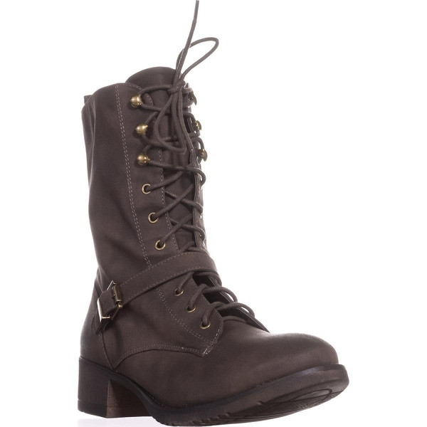 AR35 Reighn Lace-up Combat Boots, Mocha