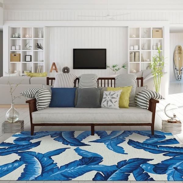 Handmade Miami Wispy Palm Indoor/ Outdoor Area Rug. Opens flyout.