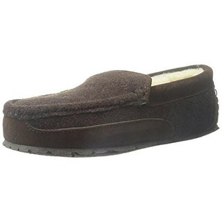 Florsheim Mens Loafer Slippers Suede Trim Faux Fur