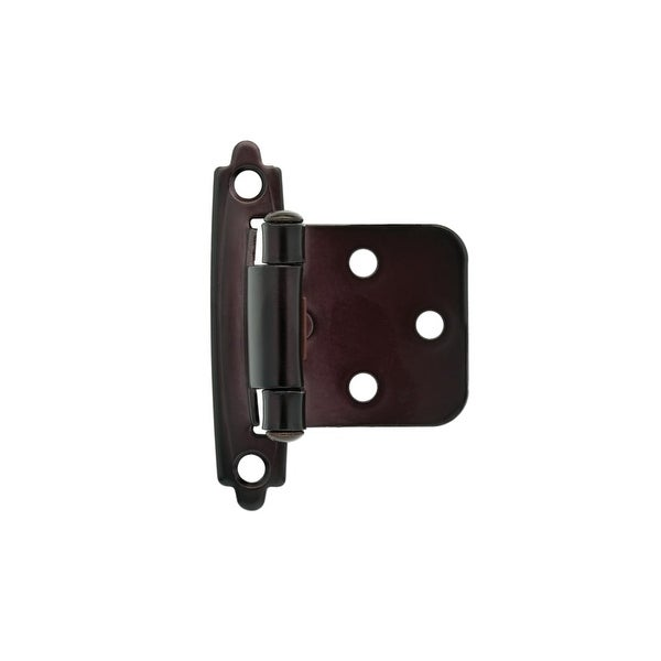 Traditional Steel Self-Closing Overlay Hinge (Sold as a Pair) - Oil Rubbed bronze