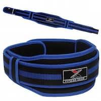 "Neoprene Weight Lifting Belt Back Support Gym Training 5"" Wide Blue BT9"