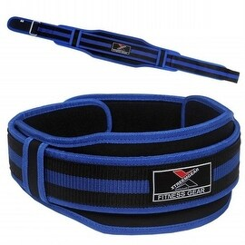 "Neoprene Weight Lifting Belt Back Support Gym Training 5"" Wide Blue BT9"