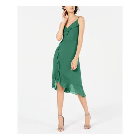 KENSIE Green Spaghetti Strap Midi Dress 10