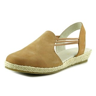 David Tate Nelly Women Round Toe Leather Tan Slingback Sandal