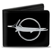 Barracuda Emblem Black Silver Bi Fold Wallet - One Size Fits most
