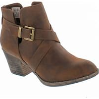 Rocket Dog Women's Sasha Graham Pu Ankle Bootie - Brown