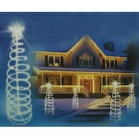 6' Clear Lighted Outdoor Spiral Christmas Tree Outdoor Decoration