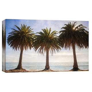 "PTM Images 9-102258  PTM Canvas Collection 8"" x 10"" - ""Three Palm Trees"" Giclee Beaches and Waves Art Print on Canvas"