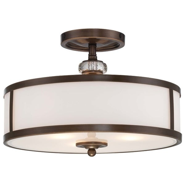 Minka Lavery 4942-570 3 Light Semi-Flush Ceiling Fixture from the Thorndale Collection