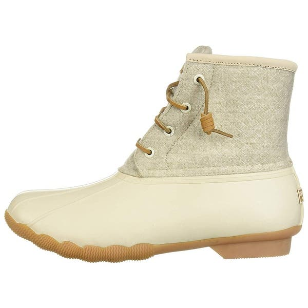 c62c7be4d5ba Sperry Womens Saltwater Duck Booties Fabric Closed Toe Mid-Calf Rainboots