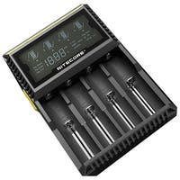 NITECORE D4 Digital 4-slot Universal Battery Charger - Black