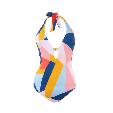 Bar III Women's Pop Art Printed Strappy-Back One-Piece Swimsuit