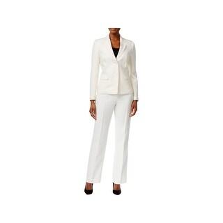 Le Suit Womens Pant Suit Tonal Tweed - 16