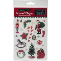 'Twas The Night Before Christmas Adhesive Enamel Embellishmt-Shapes