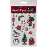 Shapes - 'Twas The Night Before Christmas Adhesive Enamel Embellishmt