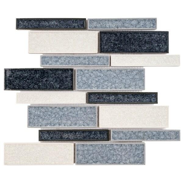 TileGen. Roman Art Mario Random Sized Ceramic in Blue Wall Tile (10 sheets/10.6sqft.). Opens flyout.
