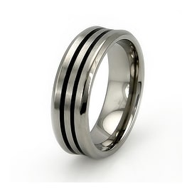 Titanium Concave Ring with Dual Resin Inlay