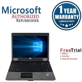 Refurbished HP Compaq 6530B 14.1'' Laptop Intel Core 2 Duo P8400 2.26G 4G DDR2 160G DVD Win 7 Pro 64-bit 1 Year Warranty - Black