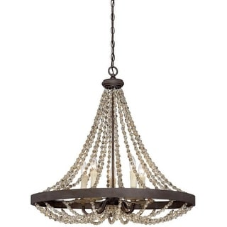 "Savoy House 7-7406-5 Mallory 5 Light 30"" Wide 1 Tier Chandelier"
