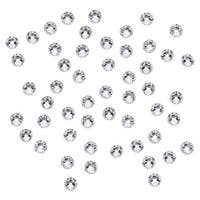Swarovski Elements Crystal, Round Flatback Rhinestone SS12 3mm, 50 Pieces, Crystal