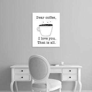 Easy Art Prints Jan Weiss's 'Dear Coffee' Premium Canvas Art