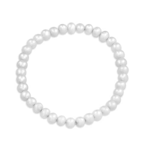 Freshwater Cultured Pearl Single Strand Stretch Bracelet