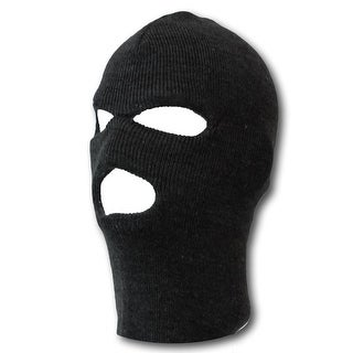 Black Three Holed Ski Mask