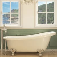 Pelham & White Luxury 67 Inch Clawfoot Slipper Tub with Chrome Ball and Claw Feet